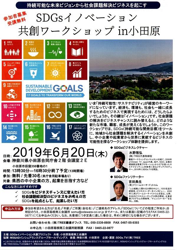 中小企業SDGs事業創発ワークショップ協働MS&AD